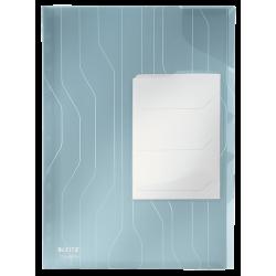 Folder Leitz Combifile z przekładkami 3szt. - transparentny niebieski