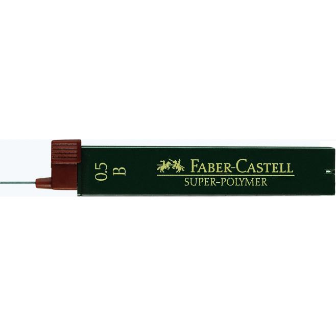 Grafity do ołówka Super Polymer Faber-Castell - 0,5 B / 12 szt