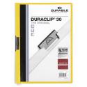 Skoroszyt zaciskowy o pojemności do 30 kartek Duraclip - żółty