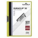 Skoroszyt zaciskowy o pojemności do 30 kartek Duraclip - zielony