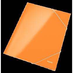 Teczka kartonowa z gumką Leitz WOW - pomarańczowa