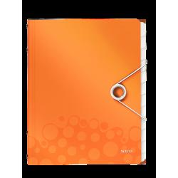 Teczka segregująca Leitz WOW 12 przekładek - pomarańczowa