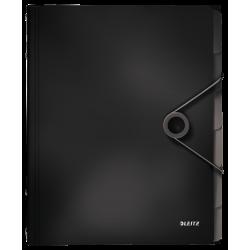 Teczka segregująca Leitz Solid 6 przekładek - czarna