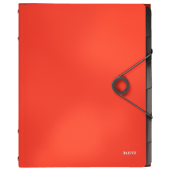 Teczka segregująca Leitz Solid 6 przekładek - jasnoczerwona