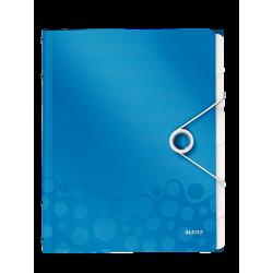 Teczka segregująca Leitz WOW 6 przekładek - niebieska