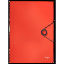 Teczka z 6 przegródkami Leitz Solid - jasnoczerwona