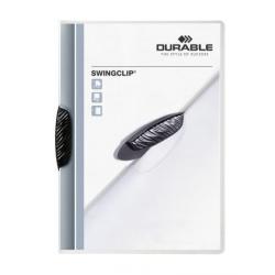 Skoroszyt zaciskowy Swingclip - transparentny z czarnym zaciskiem