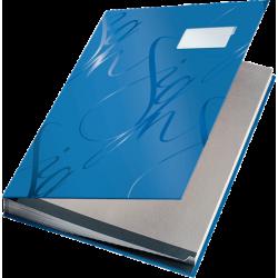 Książka do podpisu Leitz 18 przekładek - niebieska