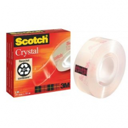 Taśma 3M Scotch Crystal Clear, 19mm x 33m