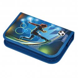 Piórnik z wyposażeniem - 31 części - Soccer