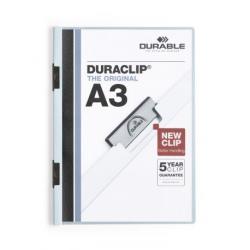 Skoroszyt zaciskowy formatu A3 Duraclip - jasnoniebieski