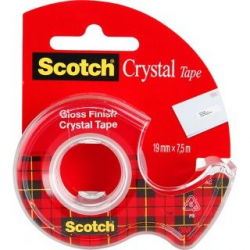 Taśma 3M Scotch Crystal Clear 6-1975, 19mm x 7,5m na podajniku