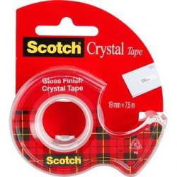Taśma 3M Scotch Crystal Clear 6-1975, 19mm x 7,5m na podajniku