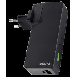 Ładowarka podróżna Leitz Complete z 2 portami USB i z Power Bankiem - czarna
