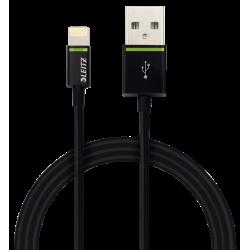Kabel Leitz Complete ze złączem Lightning na USB, 1m - czarny