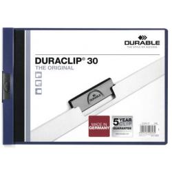Skoroszyt zaciskowy poziomy Duraclip - granatowy