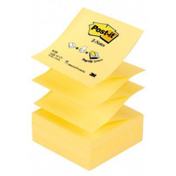 Bloczek samoprzylepny 3M Post-it Z-Notes R-330, 76x76mm - żółty