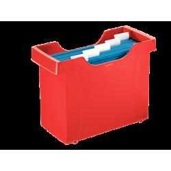Kartoteka na teczki zawieszane Leitz Plus - czerwona