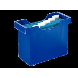 Kartoteka na teczki zawieszane Leitz Plus - niebieska