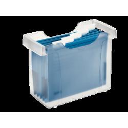 Kartoteka na teczki zawieszane Leitz Plus - przezroczysty mleczny
