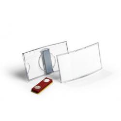 Identyfikator akrylowy z magnesem - 40x75 mm / 25 szt
