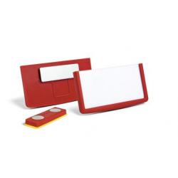 Identyfikator z magnesem - 30x60 / 25 szt / czerwony