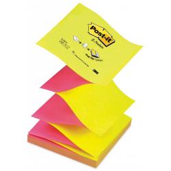 Bloczek samoprzylepny 3M Post-it Z-Notes R-330NA, 76x76mm - żółto-różowy