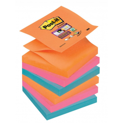 Notes samoprzylepny 3M Post-it Z-Notes 76x76mm/6szt. - paleta Bangkok