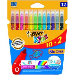 Pisaki Bic Kids - Kid Couleur - 12 kolorów