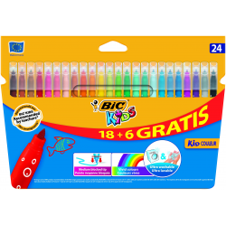 Pisaki Bic Kids - Kid  Couleur - 24 kolory