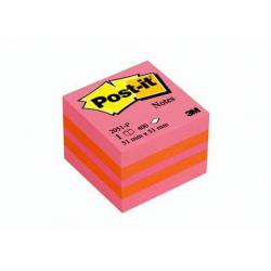 Kostka mini samoprzylepna 3M Post-it 2051-P, 51x51mm/400k - różowa