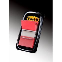 Zakładki indeksujące 3M Post-it (680-1) PP, 25x43mm/50szt. - czerwone