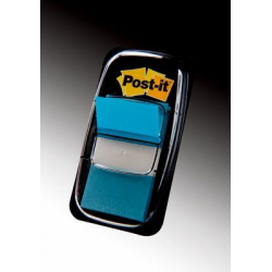 Zakładki indeksujące 3M Post-it (680-23) PP, 25x43mm/50szt. - jasnoniebieskie