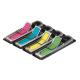 Zakładki indeksujące 3M Post-it (684-ARR4) PP strzałki, 12x43mm, 4x24k - mix kolorów neon