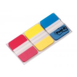 Zakładki indeksujące 3M Post-it (686-RYB) PP, silne, 25x38mm, 3x22k - mix kolorów