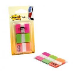 Zakładki indeksujące 3M Post-it (686-PGO) PP, silne, 25x38mm, 3x22k - mix kolorów