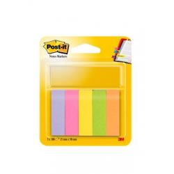 Znaczniki papierowe 3M Post-it (670/5) 15x50mm, 5x100k - mix kolorów