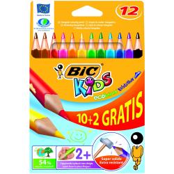 Kredki ołówkowe Bic Kids Evolution Triangle - 12 kolorów
