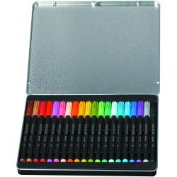 Pisaki Bic Conte w metalowym pudełku - 20 kolorów