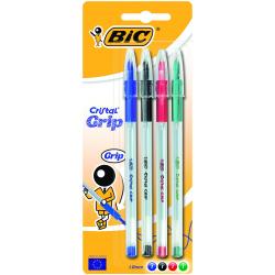 Długopis Bic Cristal Grip Mix - 4 kolory