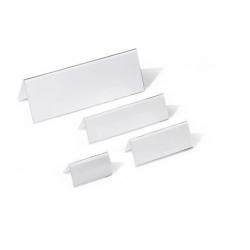 Identyfikator stołowy z akrylu 52/104x100 mm / 10 szt