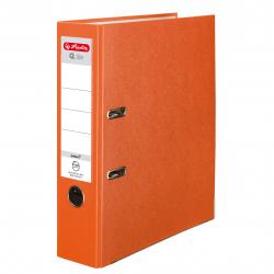 Segregator A4 Herlitz Q.file - 8cm - pomarańczowy