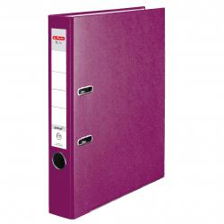 Segregator A4 Herlitz Q.file - 5cm - jagodowy