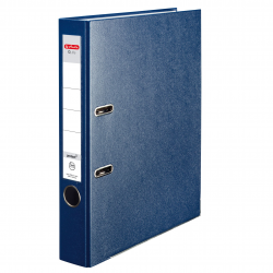 Segregator A4 Herlitz Q.file - 5cm - niebieski