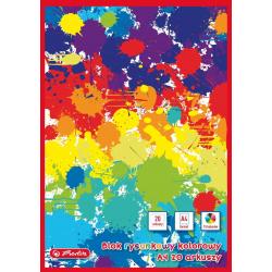 Blok rysunkowy Herlitz A4 - kolorowy - 20 kartek