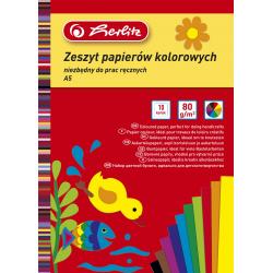 Wycinanki Herlitz A5 - kolorowe - 10 kartek