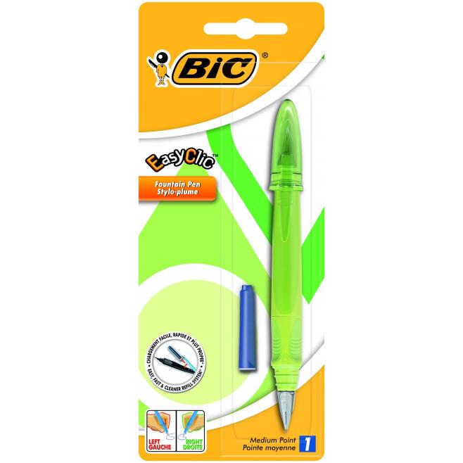 Pióro wieczne Bic Easy Clic Standard - zielony