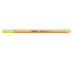 Cienkopis Stabilo Point 88 - żółty neonowy