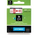 Taśma DYMO D1 40915 9mm x 7m - biała/czerwony nadruk