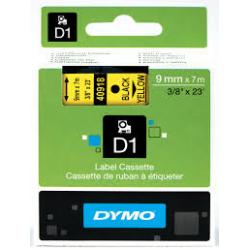 Taśma Dymo D1 9mm x 7m - żółta/czarny nadruk